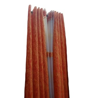 3 Panel Window Curtain (Orange)
