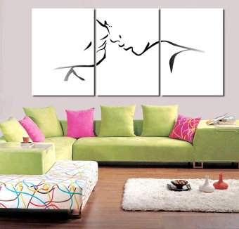 3 Panels Painting Canvas Wall Art Picture Wall Pictures For LivingRoom Canvas Print Modern Abstract Oil Painting Free Delivery (Noframe)