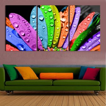 3 Pcs Large HD Colorful Leaves With Frame Canvas Print Painting For Living Room Wall Art Picture Gift Decoration Home(No frame)