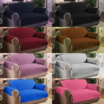 3 Seats Quilted Slipcover Sofa Seat Chair Cover Sofa Protection -intl
