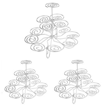 3-Tier Cupcake Stand Set of 3 (Silver)