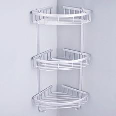 3 tier shower bathroom shelf corner rack organiser