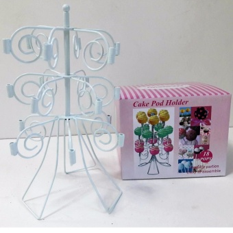 3 Tiers 18 Cake Pop Steel Stand Holder Tower Lollipop Holder (WithFree USB Light)
