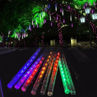 30 cm Multi Color Meteor Shower Rain Light Tubes Christmas Lights - picture 2
