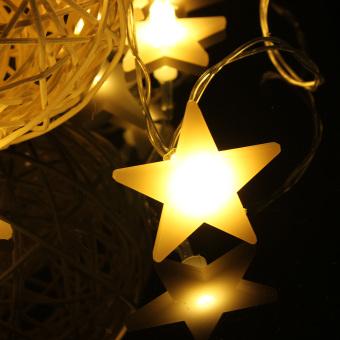 30 LED Stars Wedding Christmas Party Tree String Light Decor (Warm white)