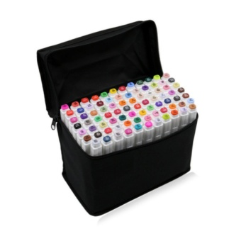 30 PCS Color Paint Graphic Art Twin Nib Alcohol Based Ink PenMarker Point Pen Set with Black Storage Bag Pen Shell - intl