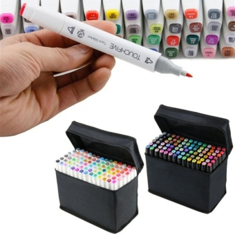 30 PCS Color Paint Graphic Art Twin Nib Alcohol Based Ink PenMarker Point Pen Set with Black Storage Bag Pen Shell - intl - 3