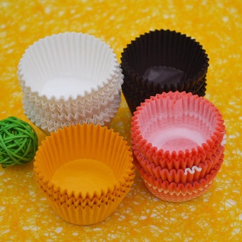 300Pcs/Lot Paper Colorful flower paper Cupcake Copa Baking RoundShape Mold Tools Bakeware Kitchen Supplies(Yellow) - intl Price Philippines
