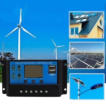 30A Dual USB Solar Panel Battery Regulator Charge Intelligent Controller 12/ - intl