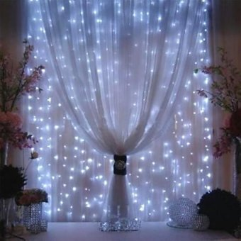 3*3M Curtain lights Light Decoration String lights WindowDecoration EU Plug - intl