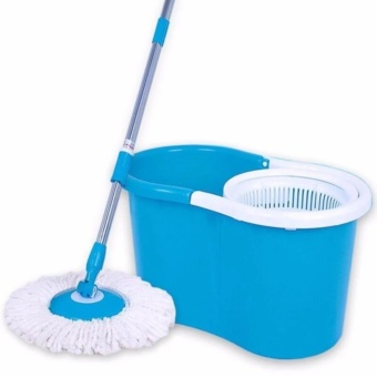 360 Easy Magic Floor Spin Mop Microfiber Rotating Head(blue)