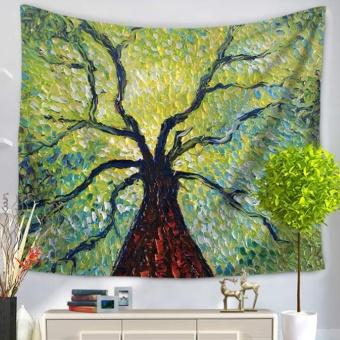 360DSC Art Flowers Printing Tapestries Multipurpose HouseholdBlanket for Beach Towel Bed Sheets Tablecloth Picnic Mat - GT1060-1- intl
