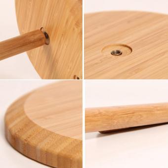 360DSC Bamboo Vertical Stand Kitchen Paper Towel Toilet TissueHolder - Burlywood - intl - 4