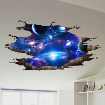 3D bedroom bedside ceiling self-adhesive wallpaper wall adhesive paper