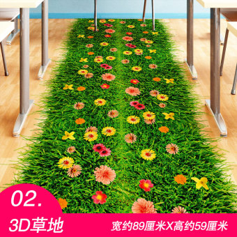 3D bedroom living room floor tiles room decorative Wallpaper