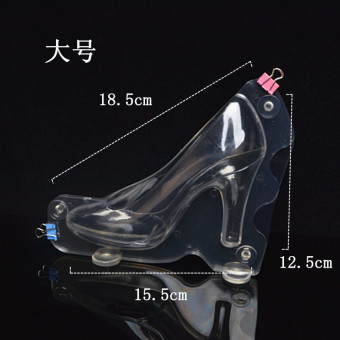 3D chocolate big small high-heeled shoes Mold