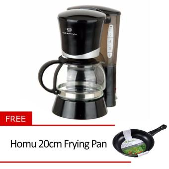 3D CM-2022E Coffee Maker (Black) with Free Homu 20cm Frying Pan