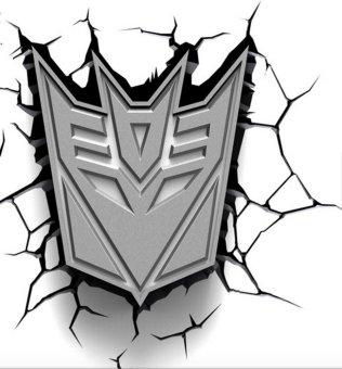 3D Deco Lights Transformers Decepticon Shield