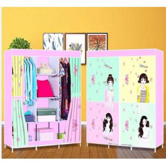 3D Pattern Non-Woven Folding Cloth Wardrobe Home Closet - 3
