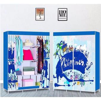 3D Pattern Non-Woven Folding Cloth Wardrobe Home Closet - 4