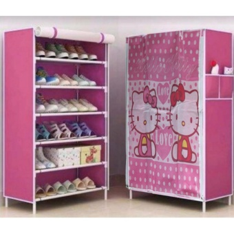 3D Pattern Non-Woven Folding Shoe Storage