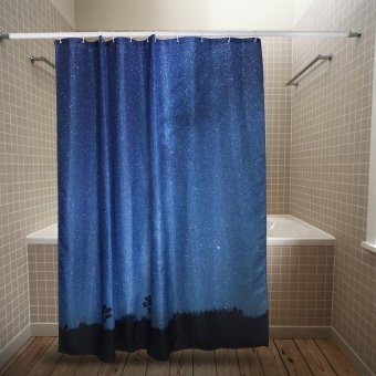 3D Shower Curtain with Stars Scene of Night Sky Pattern #4 180x200 - intl
