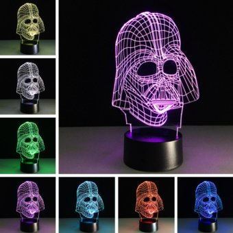 3D Star-Wars LED Night 7 Color Change Touch Switch Table Desk Lamp Light - intl