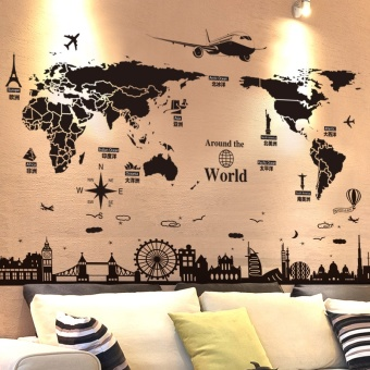 3D three-dimensional wall stickers wall wallpaper - intl