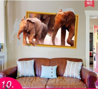 3D three-dimensional wall stickers wallpaper posters(Width 87CM *high about 57CM) - intl
