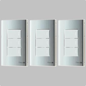 3pcs 1-Way Stainless Plate Switch-SP3-S13-PK-3set