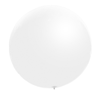 3pcs 36inch Large Giant Circular Latex Balloon White