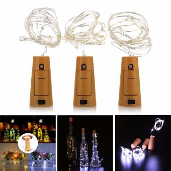 3pcs Wine Bottle Cork Shaped String Light 15 LED Night Fairy Light Lamp 28inch White