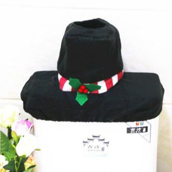 3Pcs/set Cute Snowman Bathroom Set Washable Toilet Seat Cover FloorMat Tank Lid Tissue Box Durable Home Decor - 4
