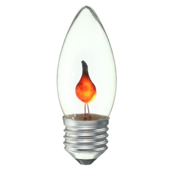 3W E27 Retro Fire Flame Candle Tail Edison Light Bulb Lamp Chandelier Red #01 - intl