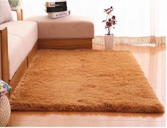 4 cm silk hair living room coffee table bedroom carpet Khaki - 3