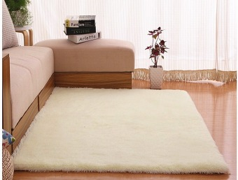 4 cm silk hair living room coffee table bedroom carpet Off White