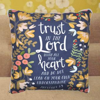 4 in 1 Celebrity Proverbs 3:5 Bible Verse Quote Fleece Throw BedPillow Blanket (Grey) Price Philippines