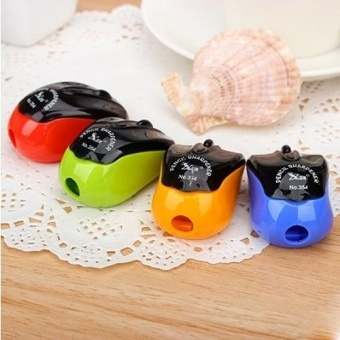 4 PCS Creative Mouse Style Pencil Sharpeners Mechanical MachineSchool Stationery Office Supplies, Random Color Delivery - intl