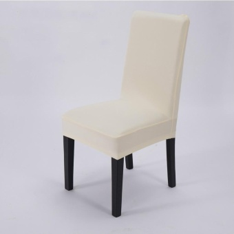 4 Pcs Simple Plain Elastic Dining Chair Cover
