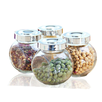 4 PCs/lot Glass jars sealed storage food container Spice jar 380ml