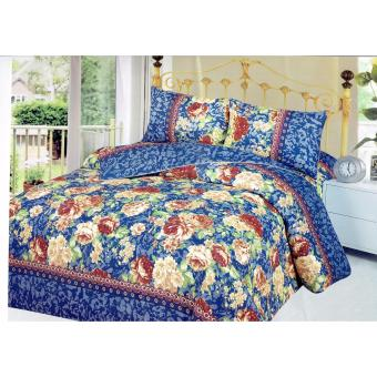 4-Piece Queen Size Bedding with Luxury Cotton Feel- FloralImpressions Series by Manhattan Homemaker