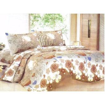 4-Piece Queen Size Bedding with Luxury Cotton Feel- Sephia GardenSeries by Manhattan Homemaker