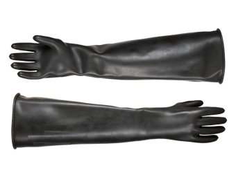 "40 Mil Super Long 60cm 24"" Shoulder Length Latex Rubber AcidResistant Industrial Chemical Gloves (Pair) Price Philippines"