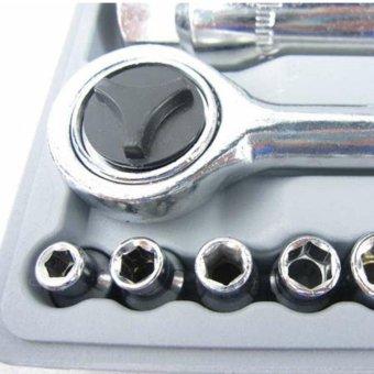 40 Pcs Car Care Repair Maintenance Tools Socket Wrench Combination - 3