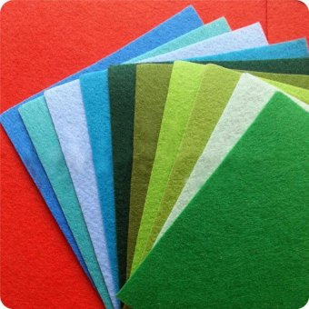 40 Pcs/Lot Mixed Color Felt Fabric 1mm Thickness Felts 20x30CM - intl