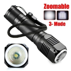 4000LM Zoomable XML Q5 LED 18650 Flashlight Torch Zoom Lamp Light 3 Mode - intl