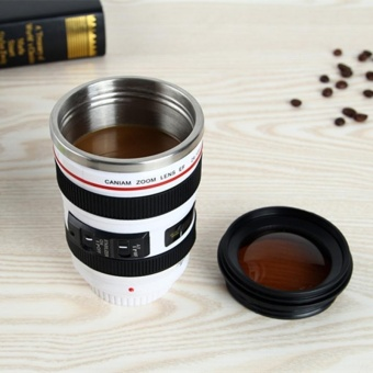 400ML Camera Lens Cup Mug Caniam EF 24-105mm F4 Filter Cup For Coffee Milk Water As Gift - intl