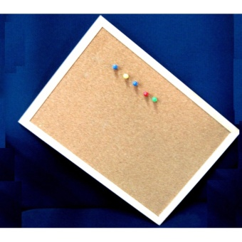 40cmx60cm Cork Board Wooden Frame for Notes and memos etc.