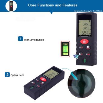 40m/131ft Mini Handheld Digital Laser Distance Meter Range Finder Area Volume .