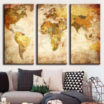 40X80CM decorative painting triple world map
